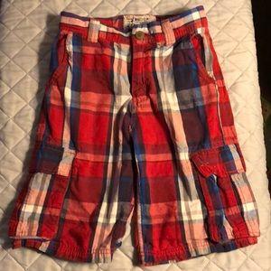 Bailey's Pt. Boys plaid cargo shorts size 10